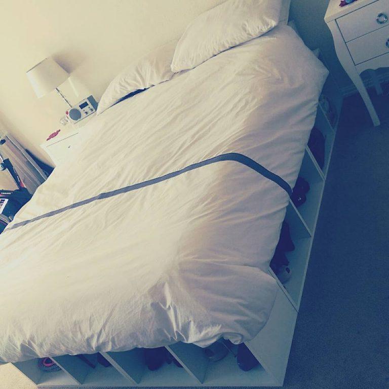Fresh Timber Bed Base storage White Melamine