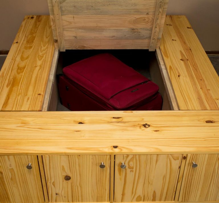 Bed base storage Pine wood