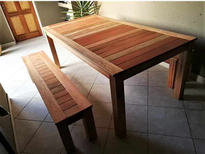 Fresh Timber Outdoor Furniture Tableset