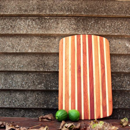 Fresh Timber striped Cutting board privet and red ironbark wood