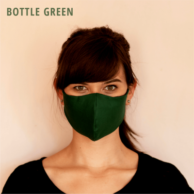 Fresh Timber Material Face Mask Bottle Green