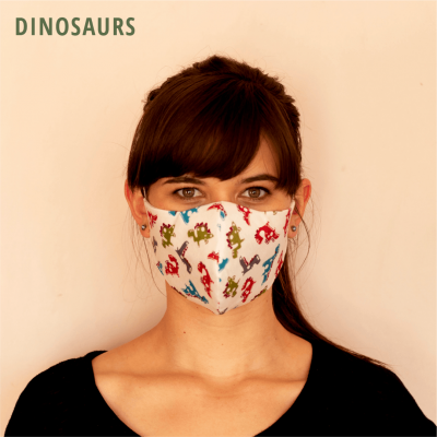 Fresh Timber Material Face Mask Dinosaurs