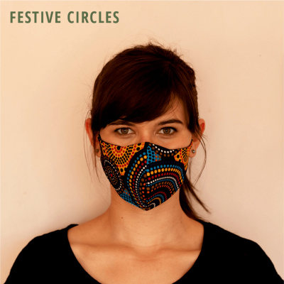 Fresh Timber Material Face Mask Festive Circles