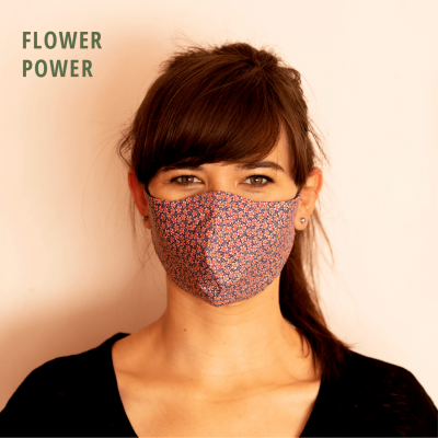 Fresh Timber Material Face Mask Flower Power