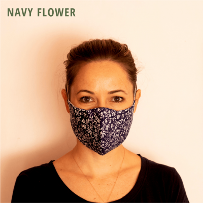Fresh Timber Material Face Mask Navy Flower