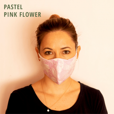 Fresh Timber Material Face Mask Pastel Pink Flower