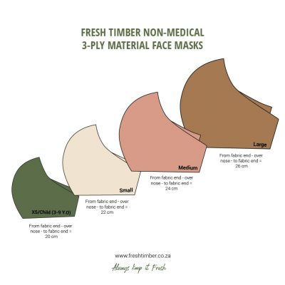 Fresh Timber Material Face Mask Sizing