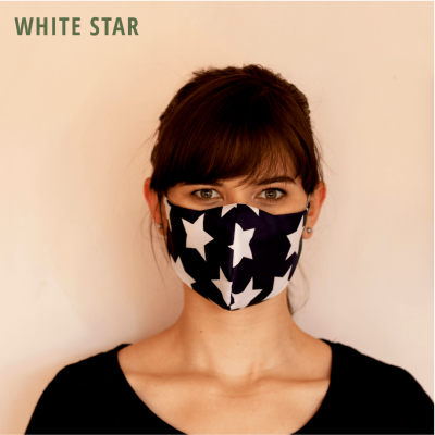 Fresh Timber Material Face Mask White Star