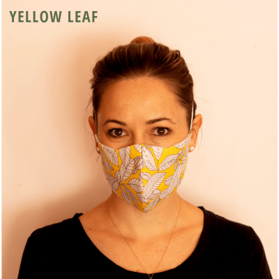 Fresh Timber Material Face Mask Yellow Leaf