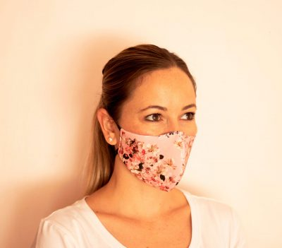 Fresh Timber Material Face Masks Pink Flower