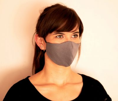 Fresh Timber Material Face Masks Grey