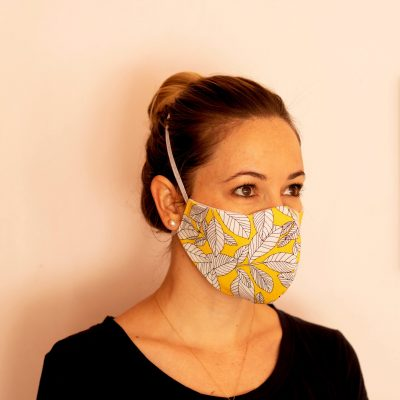 Fresh Timber Material Face Masks Yellow Leaf