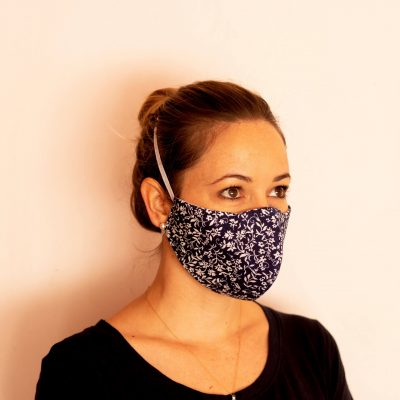 Fresh Timber Material Face Masks Navy Flower