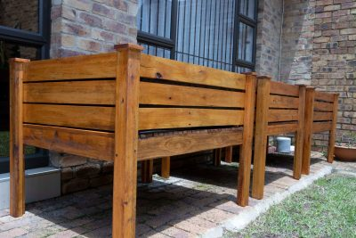 Fresh Timber 3 Wooden Planter Boxes