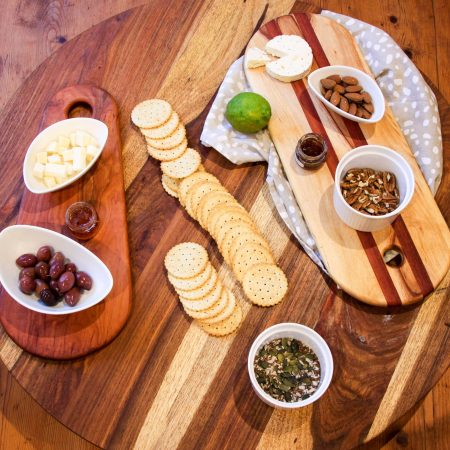 Fresh Timber Lazy Susan Rotating Board Kiaat Wood