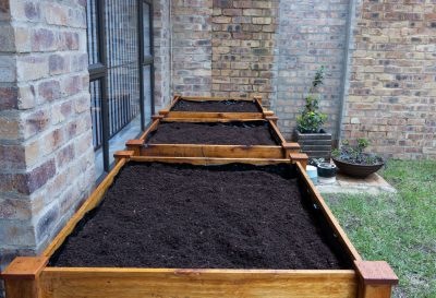 Fresh Timber Wooden Planter Box with compost