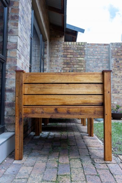 Fresh Timber Wooden Planters Sideview