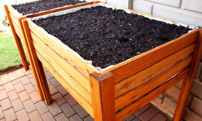Fresh Timber outdoor wooden herb planter box with compost
