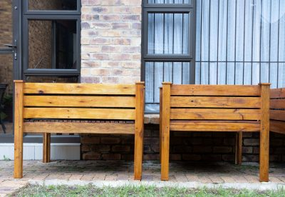 Two Wooden Planter Boxes