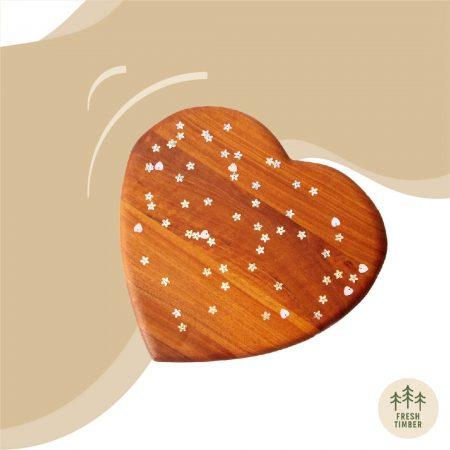 Wooden Heart Cutting Board