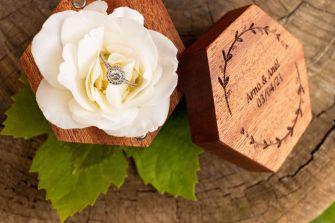 Wooden Ring Box_Fresh Timber_Hexagon_Mahogany Wood_Lid Off