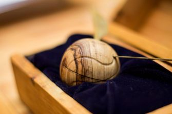 Fresh Timber Engagement Snitch ring box Olive Wood