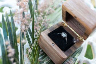 Simplistic Wood Ring Box Side - The Classic - Fresh Timber